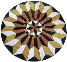 """Marble Travertine Tile Medallion Design Stone 34"""" #25c"""
