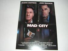 AFFICHE PROMO VIDEO CLUB--MAD CITY--HOFFMAN/TRAVOLTA/GAVRAS