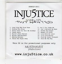 (FF214) Inju5tice, World's Most Wanted - 2010 DJ CD