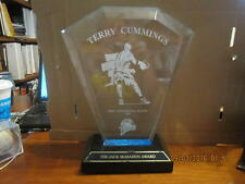 Terry Cummings Golden State Warriors Most Inspirational Player 1999 trophy ; sig
