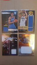 HOT LOT!! NBA GAME WORN JERSEY Basketball cards,ROOKIES,STARS 4 CARDS LOT!!!