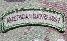 AMERICAN EXTREMIST ROCKER TAB USA TACTICAL MILITARY MORALE MULTICAM VELCRO PATCH