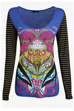 NWT CUSTO BARCELONA MENI KISS L/S Top BRAND NEW 2 / SMALL - SUPER CUTE