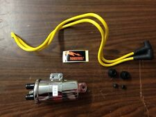 THUNDERBOLT COIL FOR MOTORCYCLES W/ POINT TYPE IGNITION W YELLOW SPARK PLUG WIRE