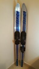 """O'BRIEN  PERFORMERS COMBO BLUE/SILVER 68"""" SKIS VERY GOOD CONDITION"""