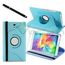 Pellicola+Pennino+Custodia Rotante AZZURRA pr Samsung Galaxy Tab S 8.4 T700 T705