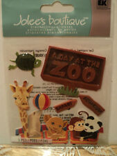 EK SUCCESS JOLEE'S BOUTIQUE A DAY AT THE ZOO DIMENSIONAL STICKERS BNIP
