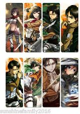 8pcs/Set Anime Attack On Titan Plastic Transparent Bookmarks Reading Book Marks