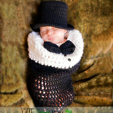 Newborn Baby Girl Boy Crochet Hand Knit Costume Photography Prop Hat Outfit