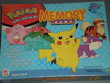 Vintage Pokemon Memory Game Pikachu 1999 Preschool Educational 48 Cards Complete