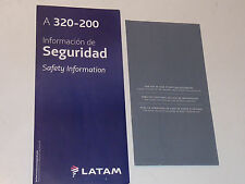 LOT LATAM AIRBUS A320-200 Safety card CONSIGNE SECURITE INSTRUCTION + sac BAG