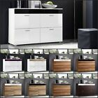 Modern Chest Drawers Cabinet Sideboard Cupboard Glossy LOGO FRESH ZOOM Free P&P