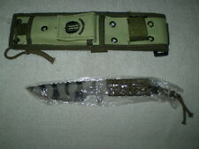 STRIDER FIXED BLADE Black /Camo Combat/tactical/fighting Knife Cord wrapped