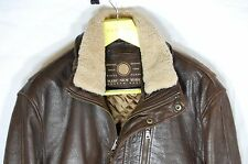 SUPPER BEAUTIFUL !!! MARC NEW YORK  MEN LEATHER BIKER JACKET SIZE M/L