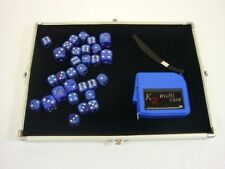 Silver Accessory Case with 30 dice & tape measure - perfect for WH 40K -E-262