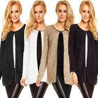 Damen Cardigan Strickjacke Jacke Pullover Einheits-Größe 36 38 flauschig schick