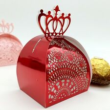 50-100Pcs New Crown Laser Cut Candy Gift Box Wedding Party Gift Favour Boxes