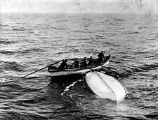 "New 8x10 Photo: Overturned Collapsible ""B"" Lifeboat from RMS TITANIC Disaster"