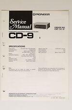 PIONEER CD-9 Originale Manuale di Servizio/Istruzioni/Schema elettrico! o63