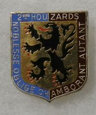 ORIGINAL Vintage FRENCH ARMY 2nd HUSSAR CAVALRY DISTINCTIVE UNIT INSIGNIA BADGE