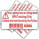 Laptop Computer Security Sticker-Fake GPS Police Tracking Sign-Dell,HP,Mac,Lock
