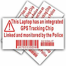 Computer Laptop Security sticker-fake polizia GPS Tracking sign-dell, HP, MAC, bloccare