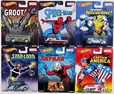 HOT WHEELS NOSTALGIA MARVEL SPIDER-MAN CAPTAIN AMERICA ANT-MAN GROOT SET OF 6