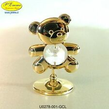 ORSACCHIOTTO GOLD CRYSTOCRAFT SWAROVSKI ELEMENTS IDEALE PER BOMBONIERE