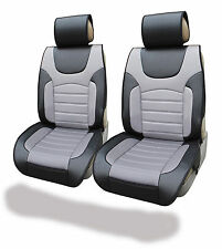 Leather Like Car Seat Cushion Covers For Auto Fits Toyota Blk/Gray 9982