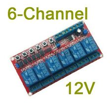 6-channel 12V latching relay module Switch controls the high voltage highcurrent