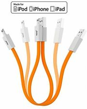 [Apple MFi Certified] Short Lightning 8pin To USB Cable W/ Magnets Inside 10in/
