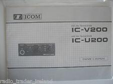 Icom-v / U200 (autentica manuale di istruzioni solo)....... radio_trader_ireland.