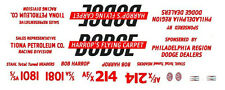 HARROP'S FLYING CARPET Dodge 1/32nd SCALE SLOT CAR WATERSLIDE DECALS