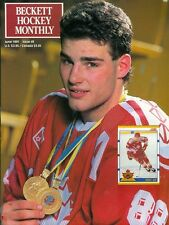 1991 Beckett Hockey Monthly Magazine #8: Eric Lindros Canada Gold Medals Flyers