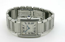 Cartier TANK FRANCAISE MEDIUM Quarzo 1998 scatola e documenti