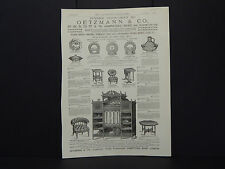 Illustrated London News Ad 20/Oetzmann & Co. Furniture /Mar1884