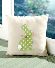 Green Cottontail Easter Bunny Rabbit Accent Pillow Living Room Bedroom Decor