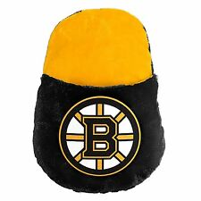 Boston Bruins NHL Team Colors & Logo Large Plush Feetoes Foot Pillow Slipper