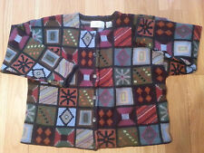 Design Options Fall Winter UGLY Christmas Geometric Sweater XL Boutique RARE