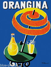 orangina villemot vintage french 70cm x 50cm art  print CANVAS