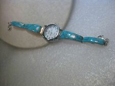 Sterling Silver Turquoise Watch signed RS (Roger Skeet), Ladies Selectime Watch