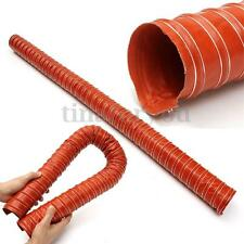 "64mm 2.5"" Silicone Air Ducting Flexible Brake Cold Induction Intake Pipe Hose"
