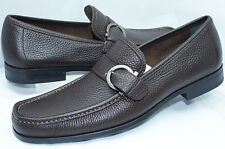 Salvatore Ferragamo Men's Shoes Navarro Brown Loafers Drivers Size 9.5 NIB