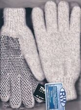 Rugged Wear Men's Beige Ragg Wool Knit Winter Wrist Glove, 40g Thinsulate L/XL