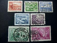 """LETTLAND ,LATVIJA LETTONIA 1938 """" Anniversario repubblica""""  7V. Cpl set USED"""