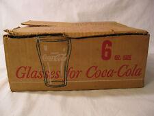 12 Vintage Coca Cola Libbey 6 oz Glasses in Original Box White Star Coke