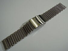 22MM STAINLESS STEEL SHARK MESH BRACELET FITS SEIKO DIVERS / OMEGA MEN'S WATCH