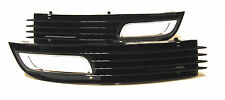 AUDI A8 2009- Left+Right front bumper lower grilles with fog lights hole 1 set