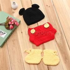 NEONATO Ragazzi Ragazze MICKEY Crochet Knit COSTUME FOTO FOTOGRAFIA PROP REGALO