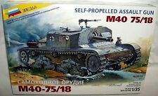 zvezda 1/35 GERMAN M40 75/18 ASSAULT GUN TANK 1941 WWII